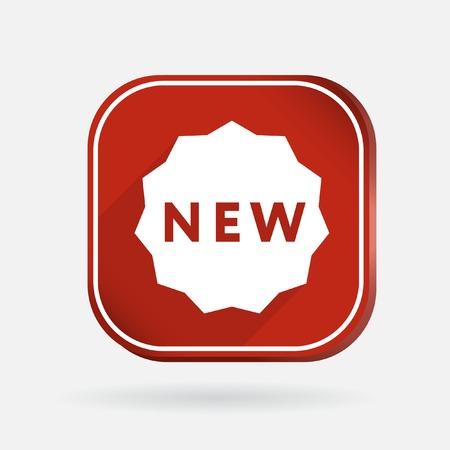 label new sign. Color square icon Vector
