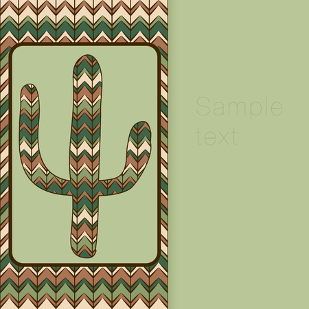 waterless: cactus greeting card. Use as backdrop, greeting card Illustration