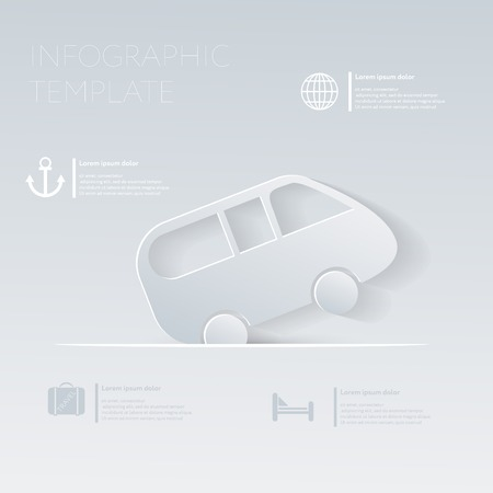 Car travel. Theme holidays. Template infographic or website layout. Vector