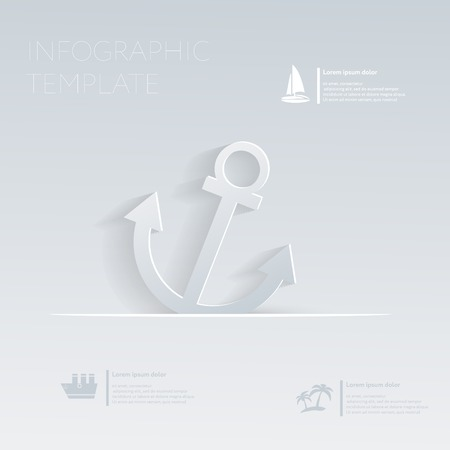 anchor. Theme holidays. Template infographic or website layout. Vector