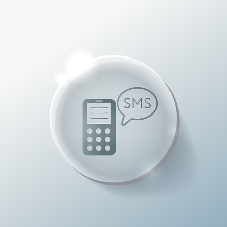 smartphone with the symbol of cloud of sms dialogue