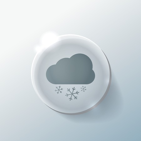 cloud snow icon. the weather icon Illustration