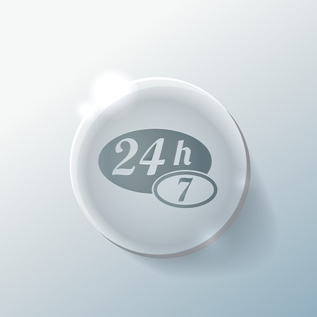 character 24 7 sign.