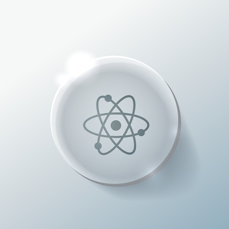 the atom, molecule. the symbol of physics and chemistry.