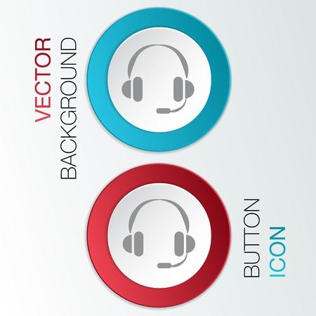 customer support avatar, headphone