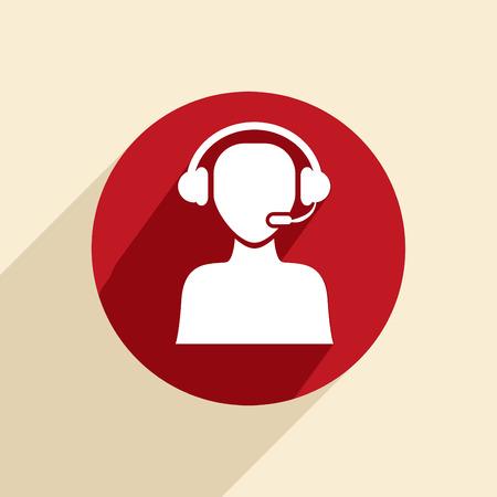callcenter: customer support avatar Illustration