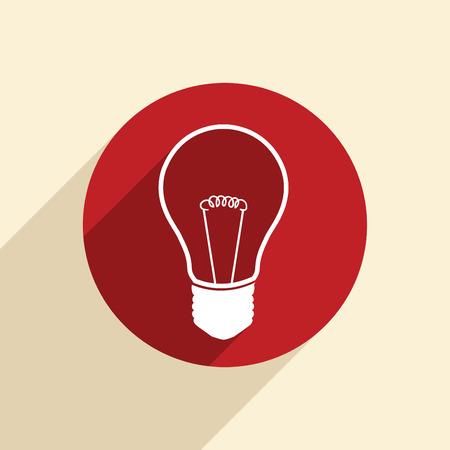 incandescent: incandescent lamp. light bulb. Illustration