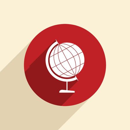 geography: globe symbol of geography.
