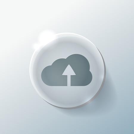 cloud download sign Vector