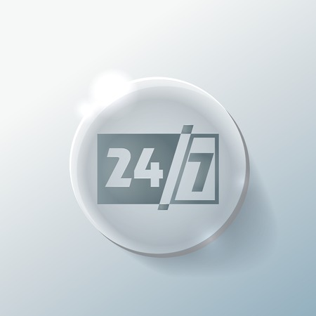 24h: character 24 7 sign.