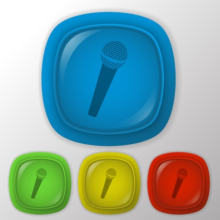 microphone sign. Vector