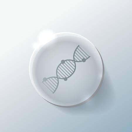 Hélice de ADN. Personaje de Investigación Médica. Icono.