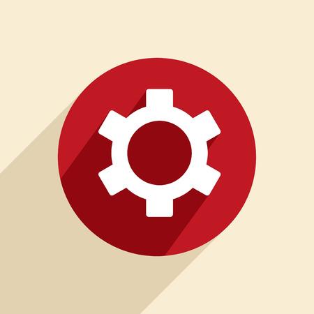 symbol settings. cogwheel Vector