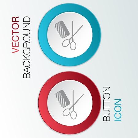 peigne et ciseaux: peigne, ciseaux signent. salon de coiffure.
