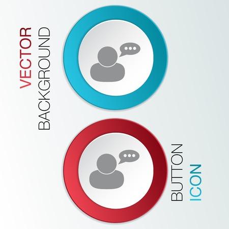 character avatar dialogue sign. Vector