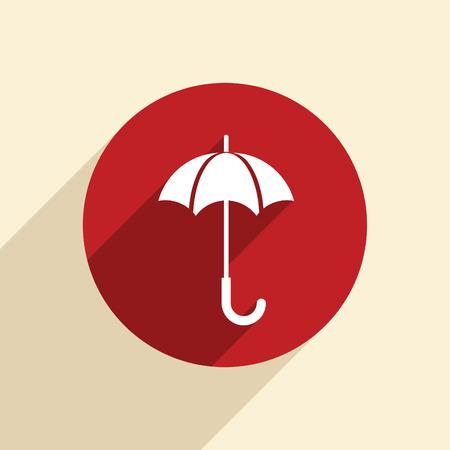 umbrella sign. Vector