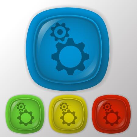 rackwheel: symbol settings. cogwheel