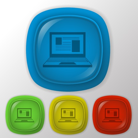 notebook icon. web sign