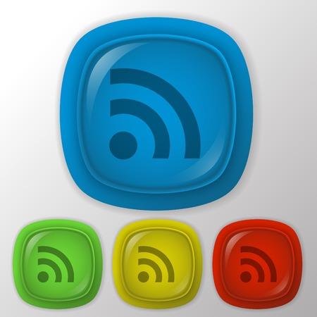 rss: rss symbol. Illustration