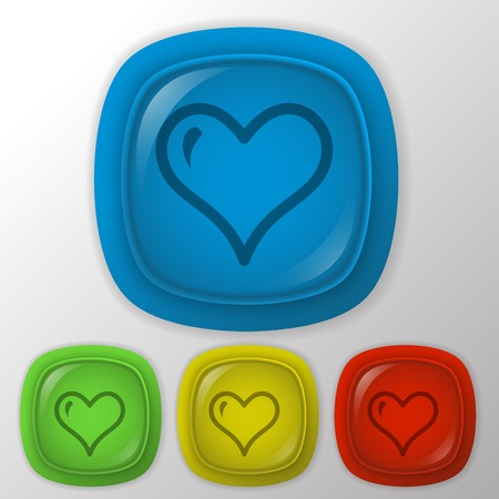 heart sign.  valentine icon