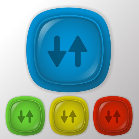 two arrow up sign. reload symbol Illustration