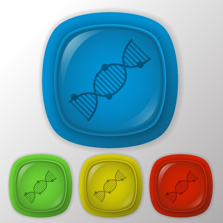dna helix: DNA helix. Medical Research character. Icon. Illustration