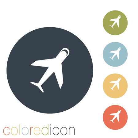 transportation icon: airplane sign. transportation icon Illustration