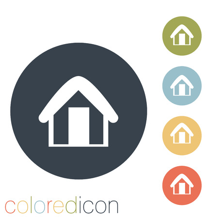 the icon home Vector