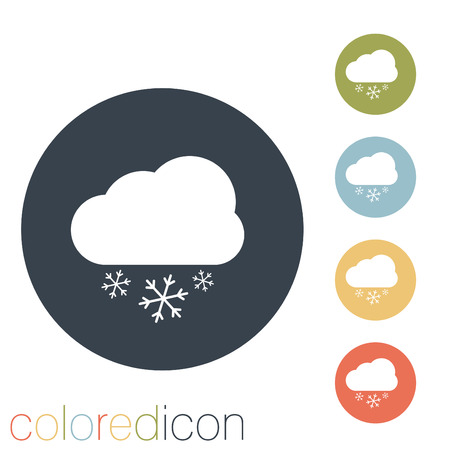 cloud snow icon. the weather icon Vector