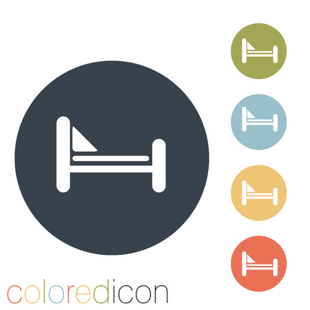 bed sign. Vector
