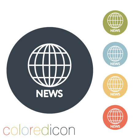 globe symbol. news. Vector