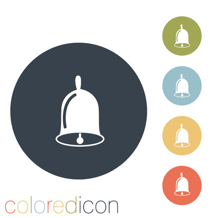bell ringer: Bell. First call. A symbol of the school. Beginning of the school Illustration