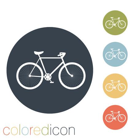 rétro icône de vélos Illustration