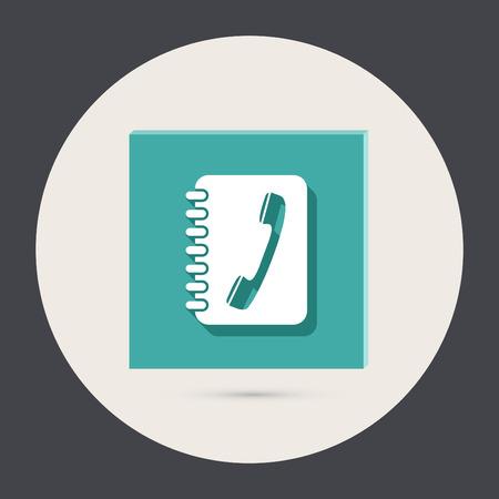 phone address book Vector