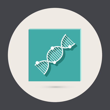 DNA helix. Medical Research character. Icon. Illustration