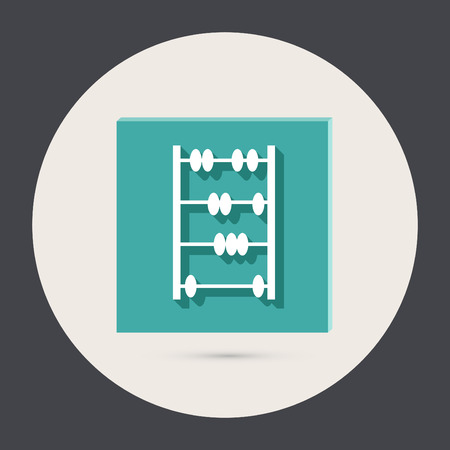 old retro abacus icon. math sign