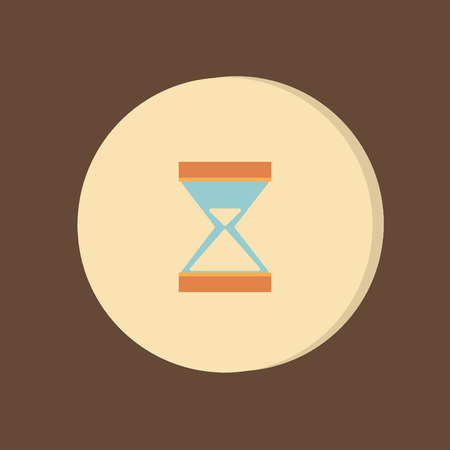 sandglass: hourglass waiting, icon expectations