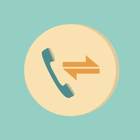 incoming and outgoing call. symbol of the incoming call. Handset rings Vector