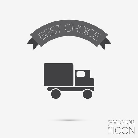 Truck. Logistic icon. Transportation symbol. symbol icon laden truck. carriage of the goods or things Vector