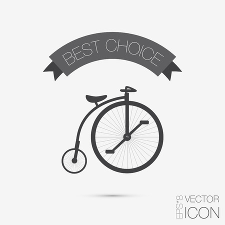 retro bicycle icon, Symbol of transport. Icon of a healthy lifestyle Ilustrace
