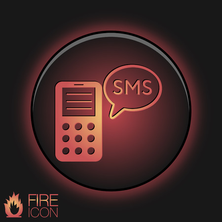 smartphone with the symbol of cloud of sms dialogue Vector