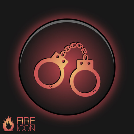 icon handcuffs. symbol of justice . police icon Vector