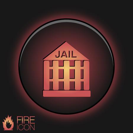 icon prison. symbol of justice . police icon Vector
