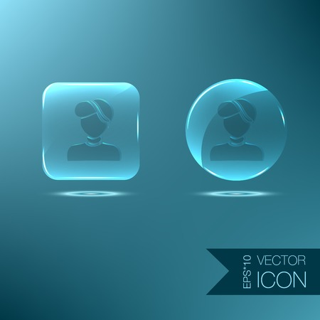 A female avatar. Avatar of a woman. Round icon image of a girl with earring Vector