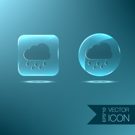 cloud rain. the weather icon Vector