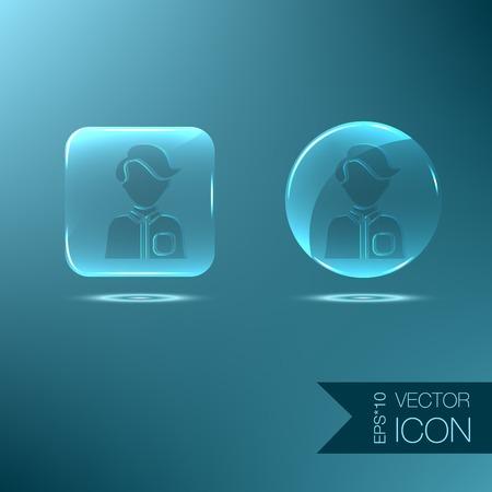 A male or female avatar. Man or woman avatar sign Vector