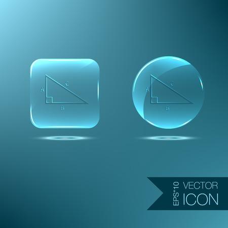 triangle mathématiques icône. symbole icône géométrie. l'apprentissage des mathématiques