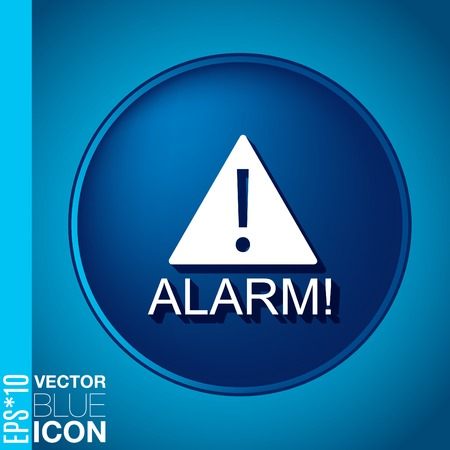 Exclamation Sign icon, alarm sign Vector