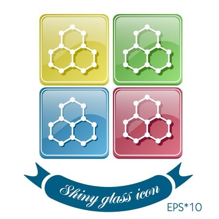 Chemical compound. Symbol chemistry. Icon science