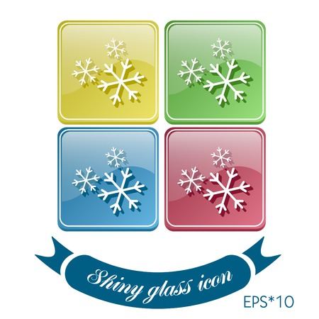 snowflake sign. the weather icon Vector